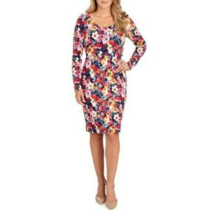 Betsey Johnson Long Sleeve Floral Printed Dress